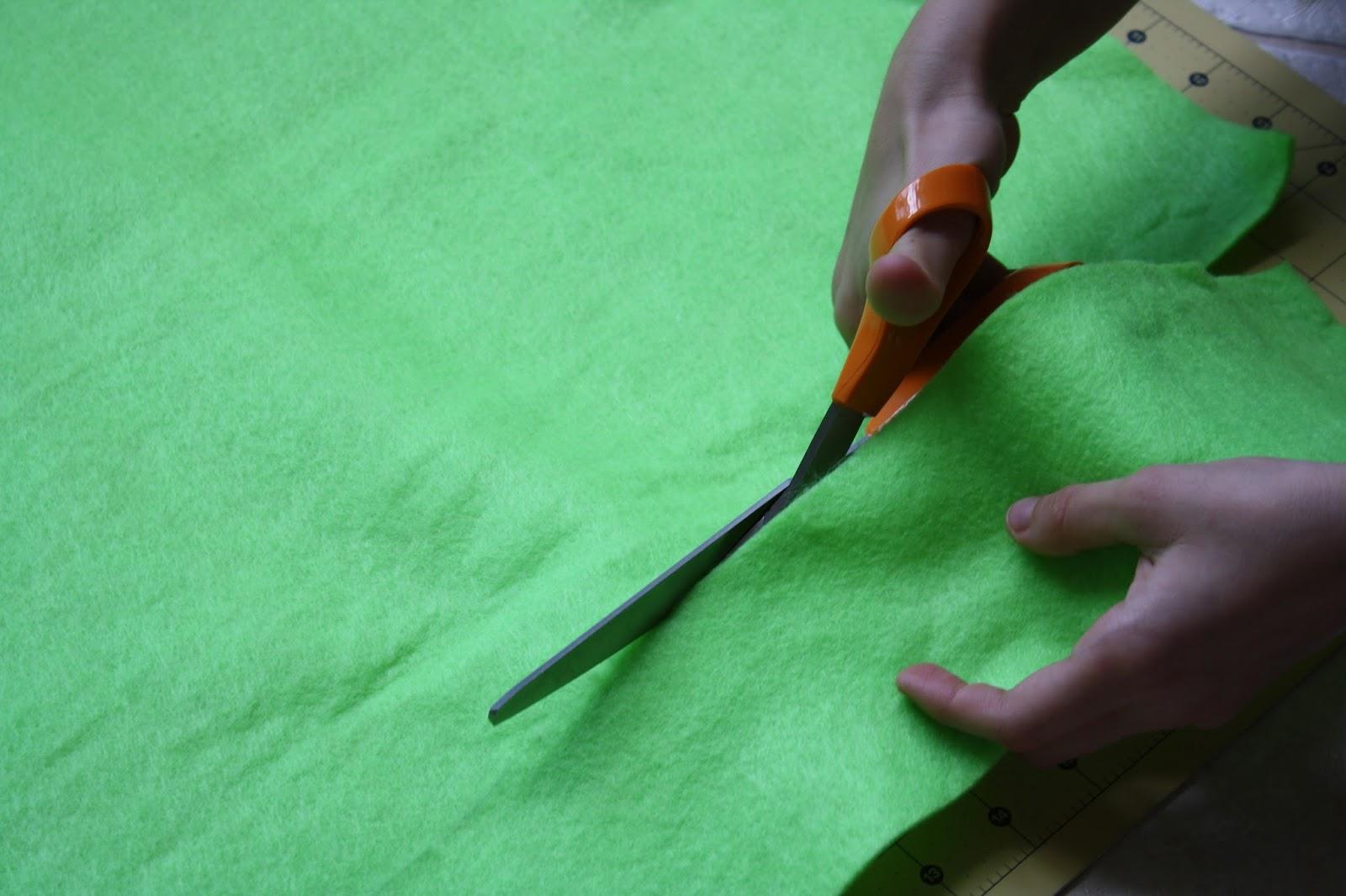 Step 1 of Bunny Costume, Cut the felt