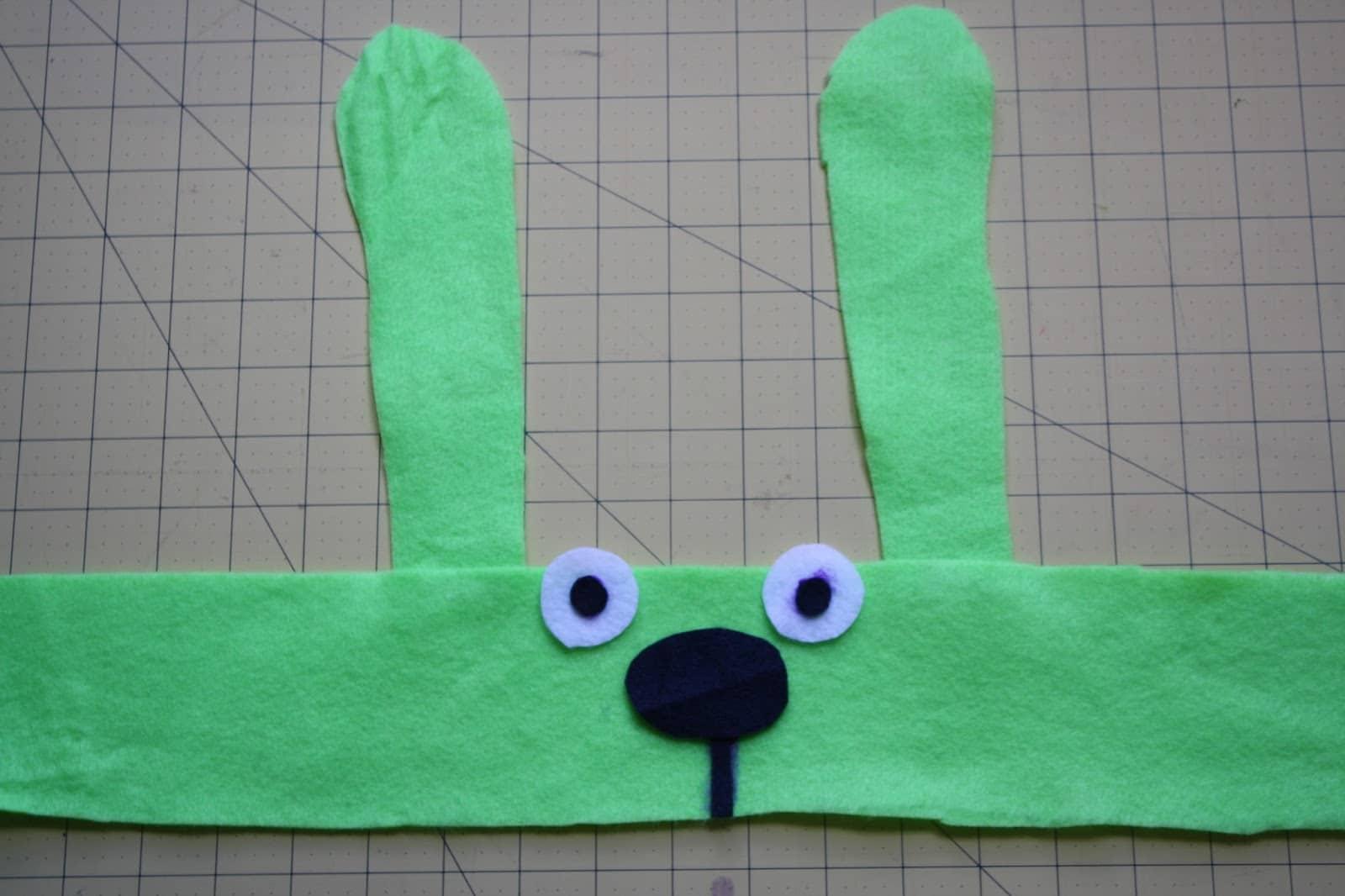 Step 3, assemble the bunny headband