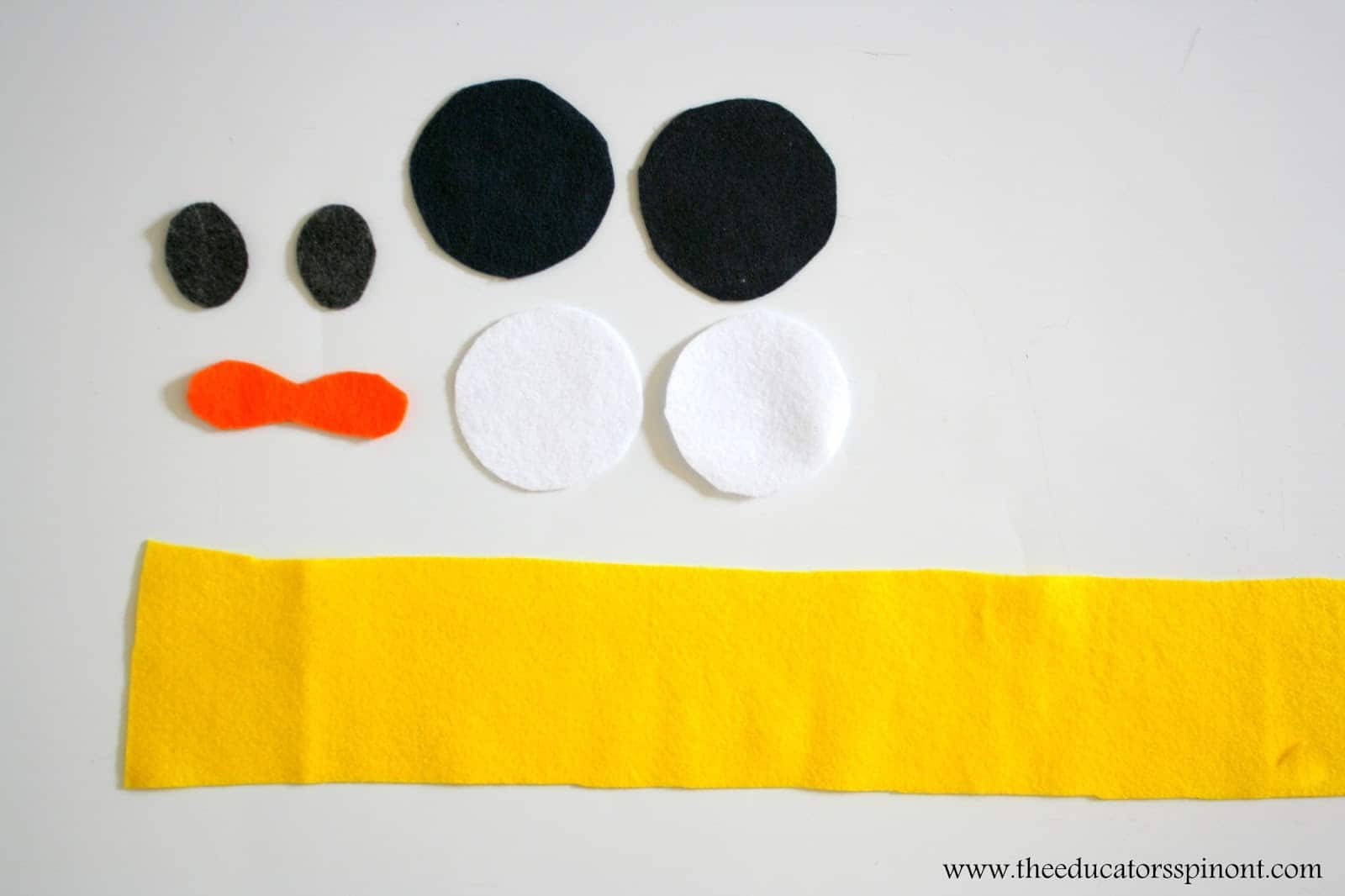 Shapes for the Duckling Costume Headband