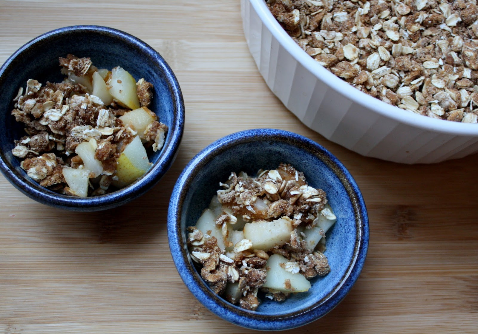 Gingerbread Pear Crumble AKA Gruffalo Crumble from The Gruffalo