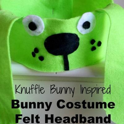 Mo Willems Inspired DIY Bunny Costume Felt Headband