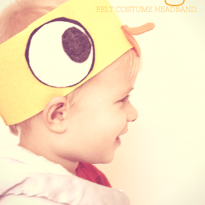DIY Mo Willems Inspired Duckling Costume Felt Headband