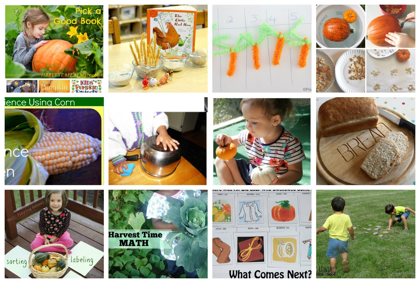 Preschool Harvest Activities