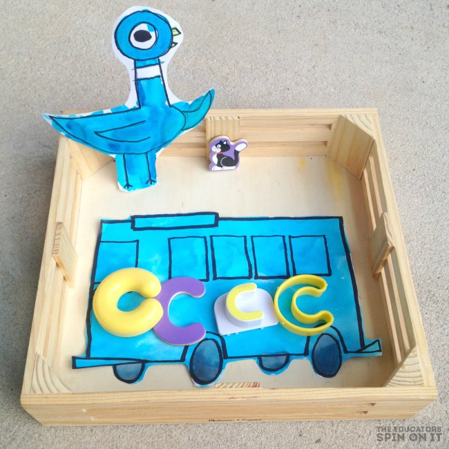 Pigeon and Bus Activities inspired by Mo Willems - alphabet bus