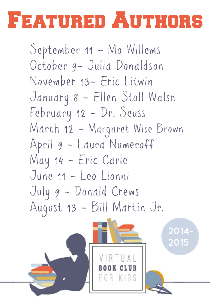 Virtual Book Club for Kids selected Authors and Books for 2014-2015 featured at The Educators' Spin On It