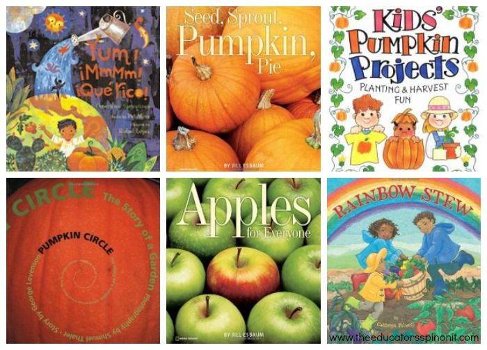 Harvest Theme Books for Preschoolers at The Educators' Spin On It