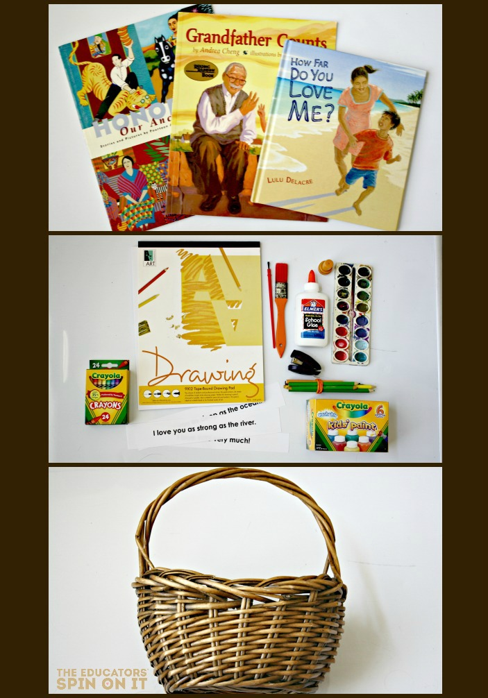 How to Build a Family Theme Love Book Basket