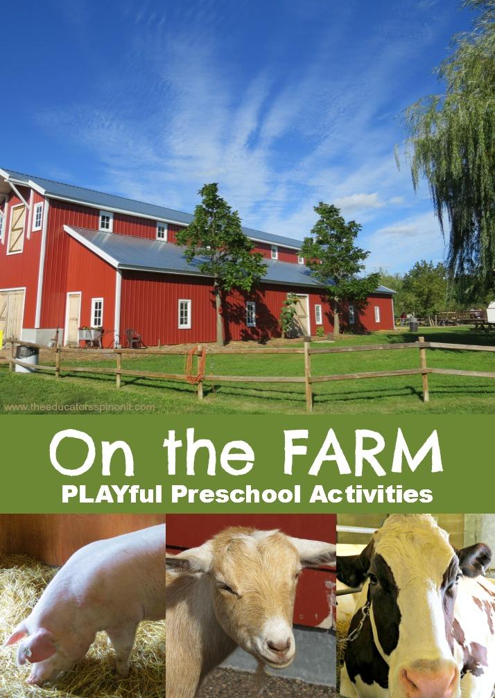 preschool activities farm theme make a mystery animal book the