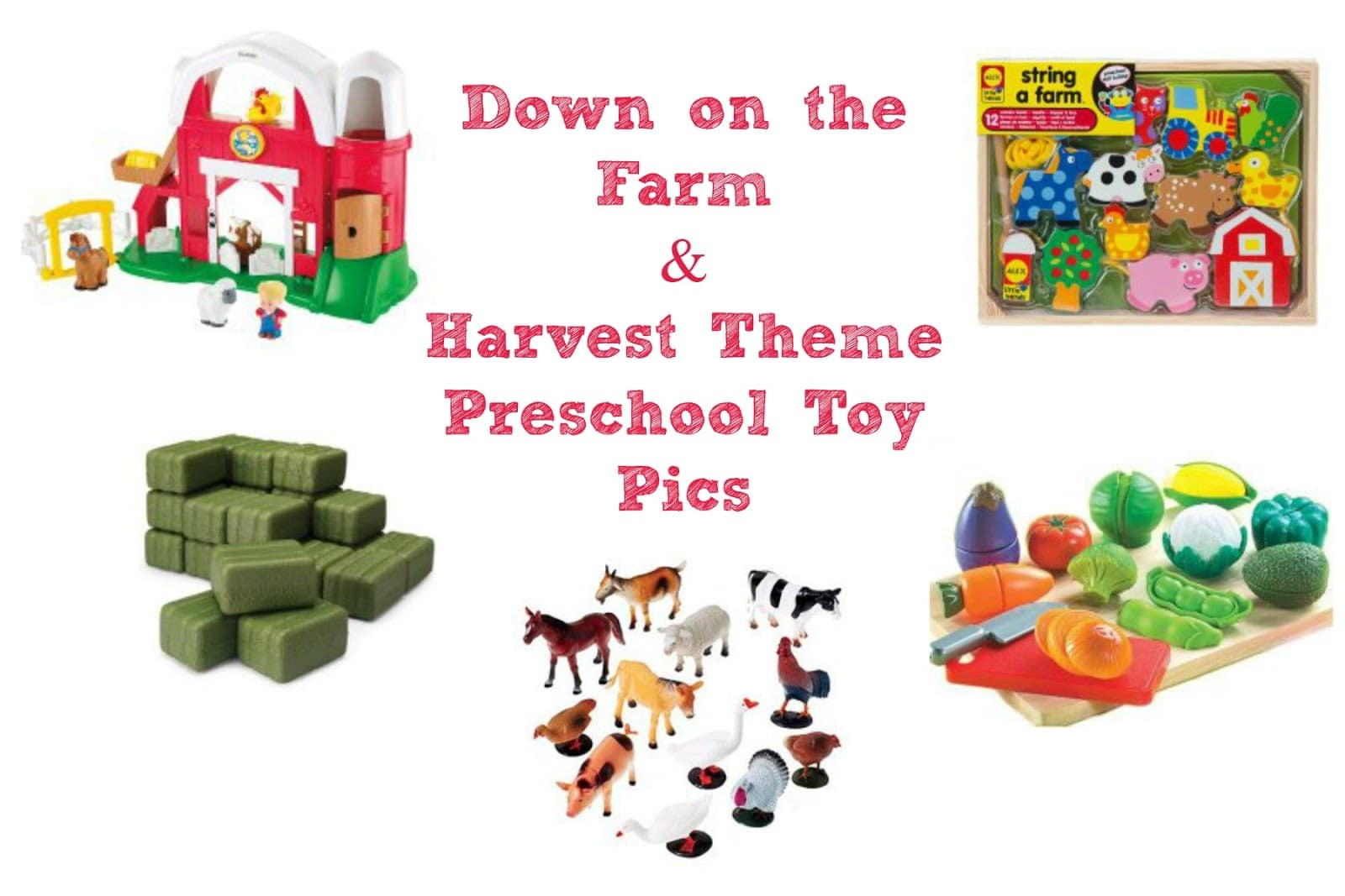 Preschool Toy Pics for Farm and Harvest Themes