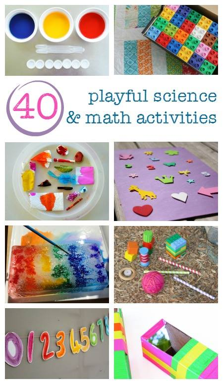 Don't miss these awesome Playful Science and Math Activities for Preschool. I can't decide which one I want to try first! Great for teachers, parents, and care-givers.