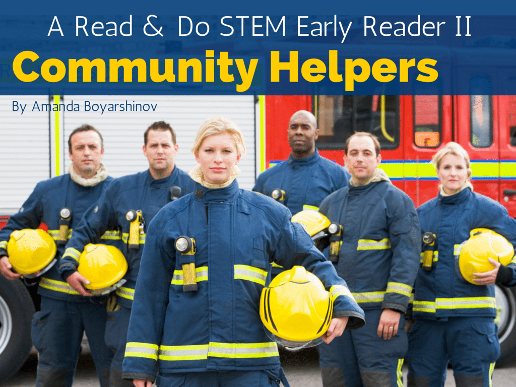 Community Helpers E-book Reader for Beginning Readers   Learn to read with e-books