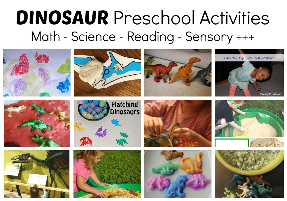 Dinosaur activities for preschool math play and more for Dinosaur crafts for toddlers