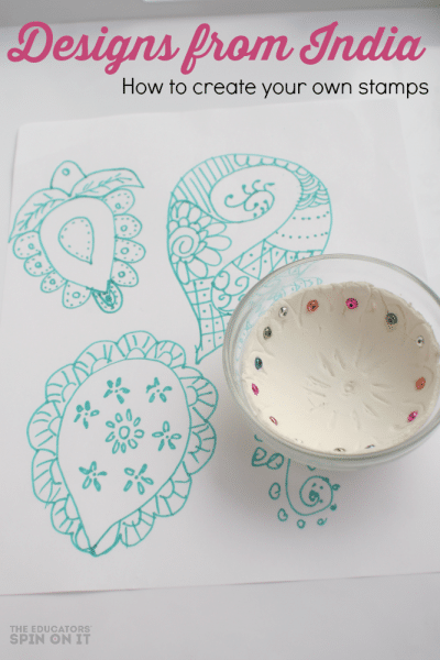 DIY stamps inspired by India designs