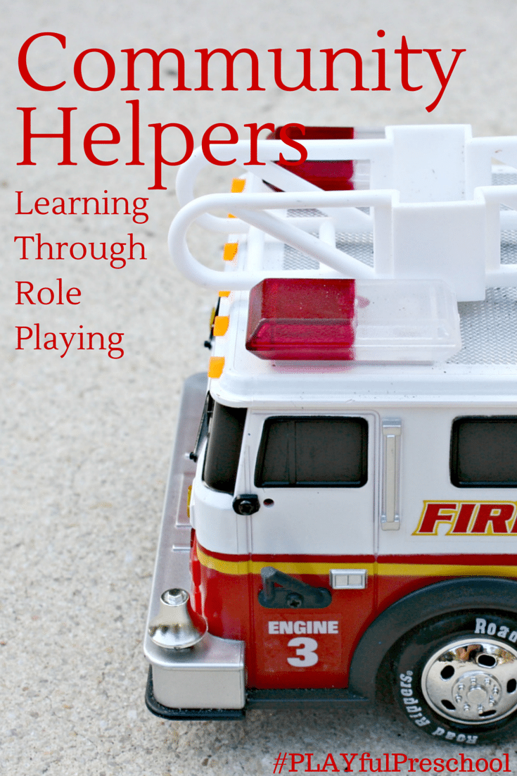 teach about community helpers with role playing a preschool
