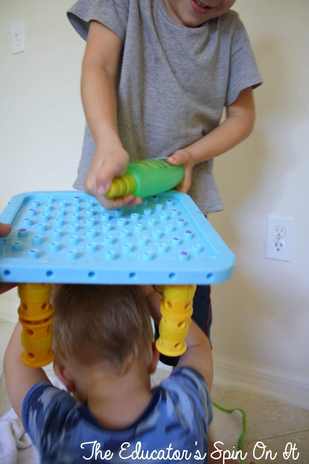 Testing out Preschool Engineering Rain shelter