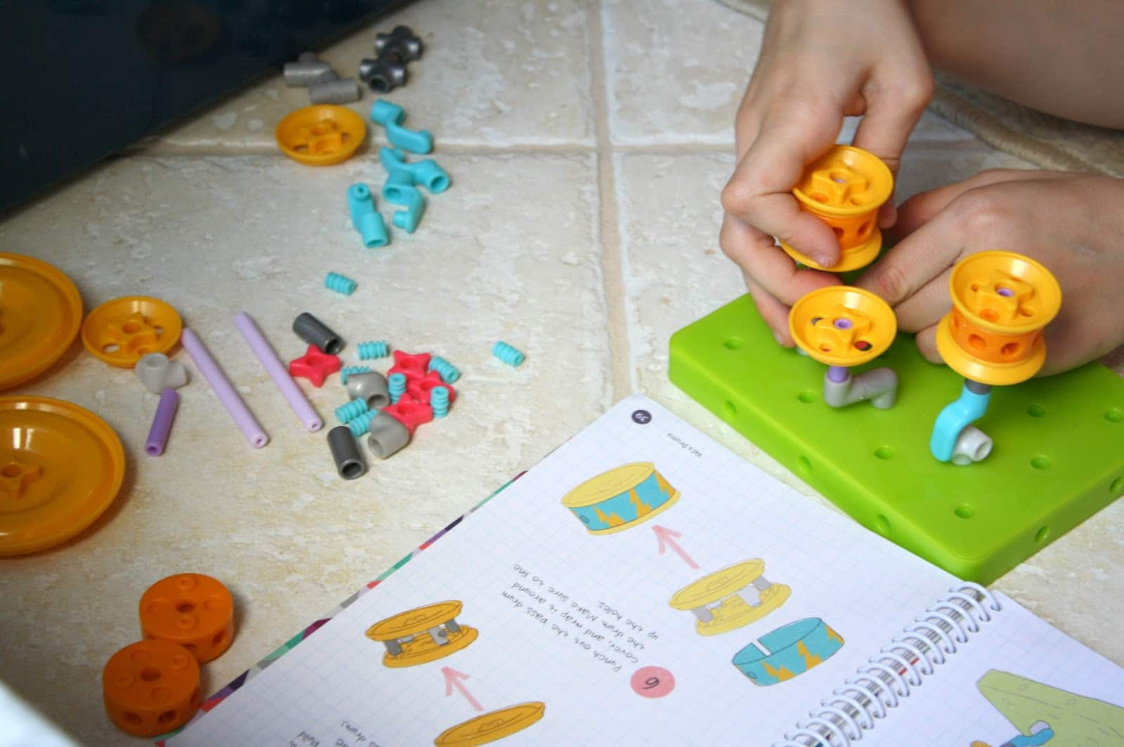 Girls in science and math, building with Goldieblox