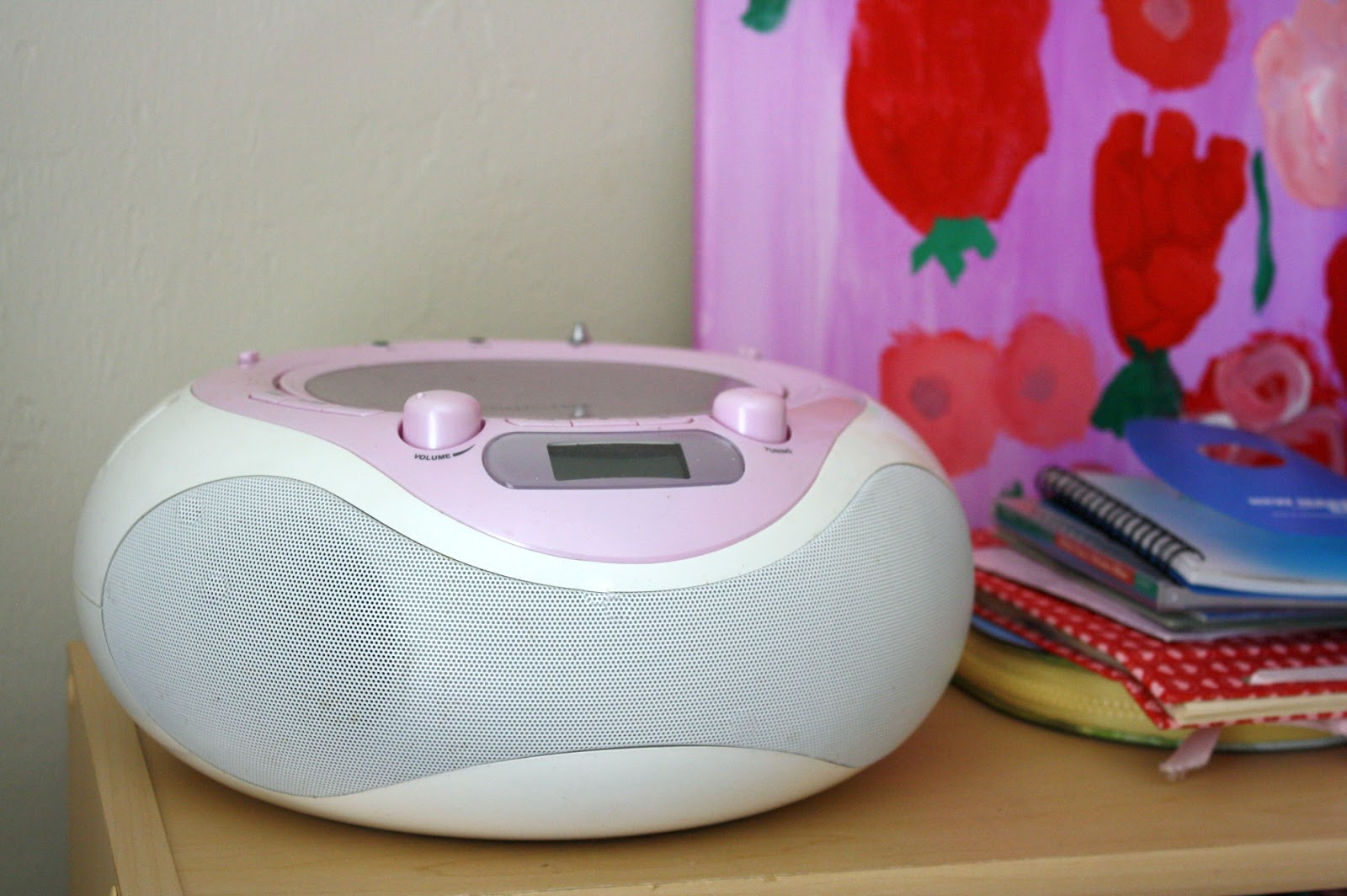 Add a CD player and calming music to your child's reading space