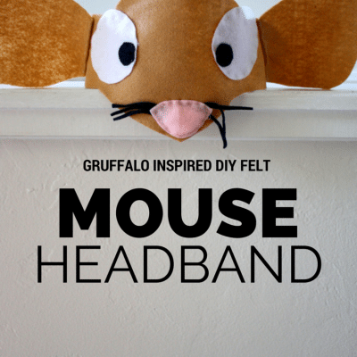 DIY Gruffalo Inspired Mouse Costume Headband