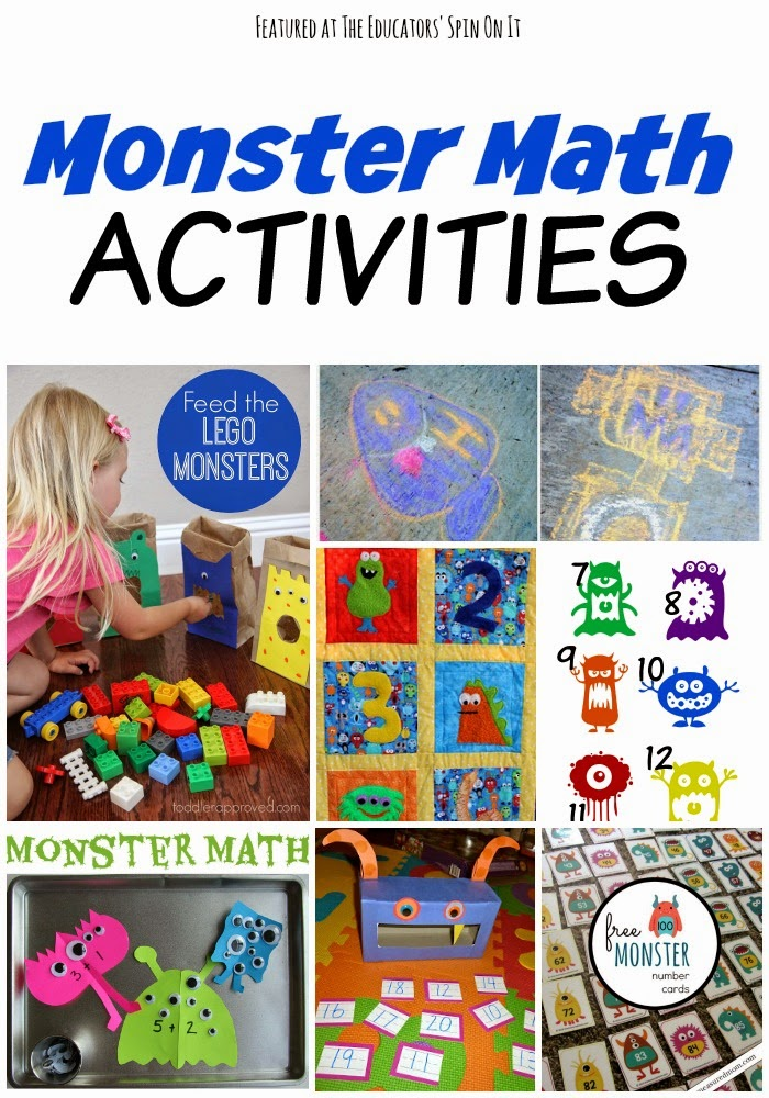 Monster Math Activities for Kids featured at The Educators' Spin On It