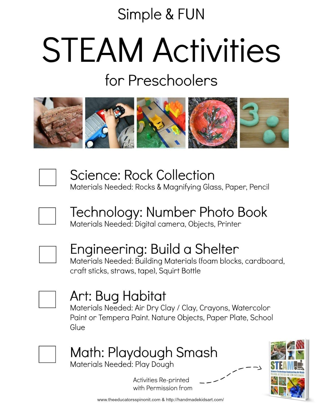 Worksheet Kindergarten Enrichment Ideas simple and fun steam activities for preschoolers the educators preschooler stem kids