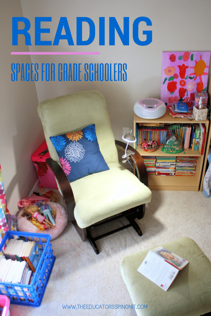 Create a kid-friendly reading space for after school literacy.  Raise a reader!!!!