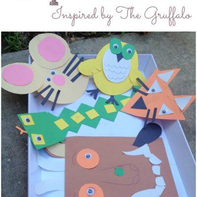 Gruffalo Themed Shape Animals Inspired by Author Julia Donaldson