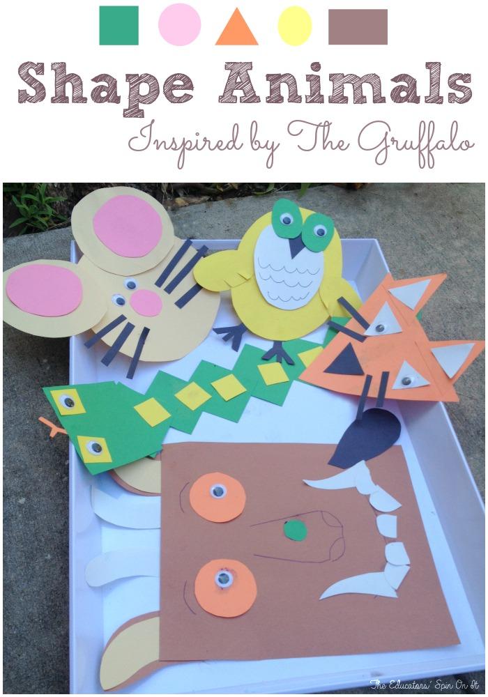 Gruffalo Themed Animals Shapes