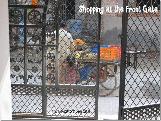 Shopping at the gate