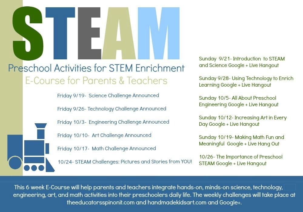 STEAM E-Course Class Schedule