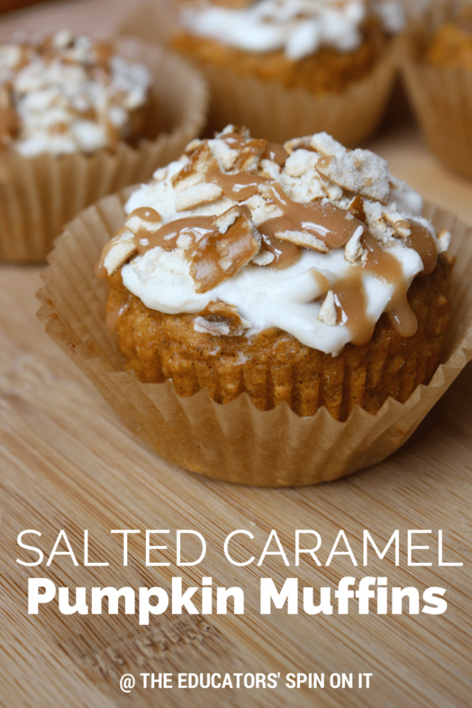 salted caramel pumpkin muffins recipe