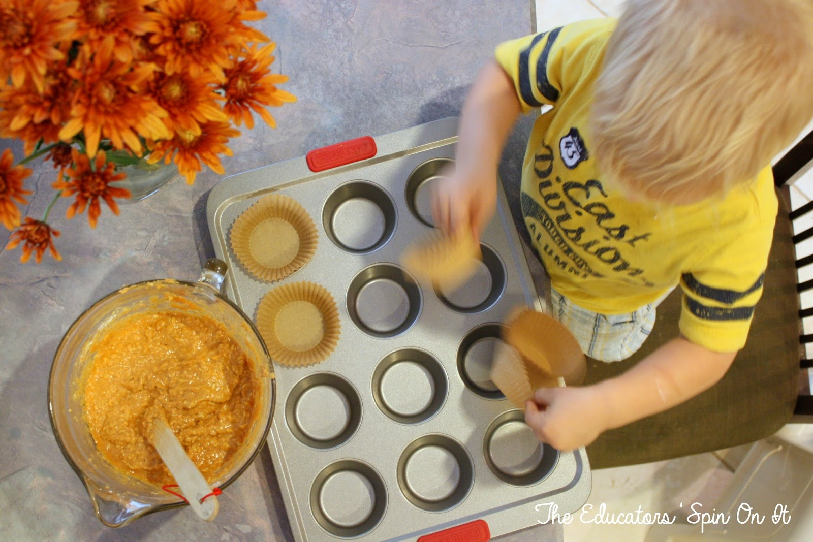 Baking with toddlers: Salted Caramel Pumpkin Muffins