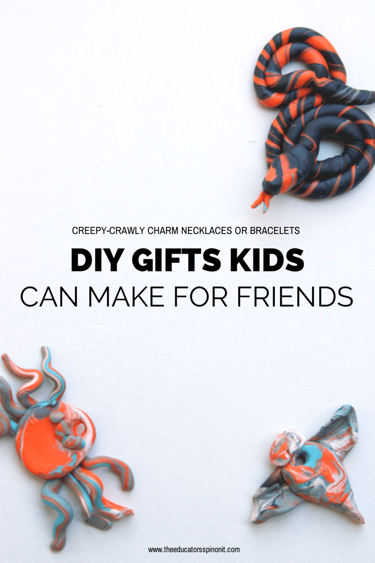 EASY DIY creepy crawly charms young kids can make as gifts  for friends
