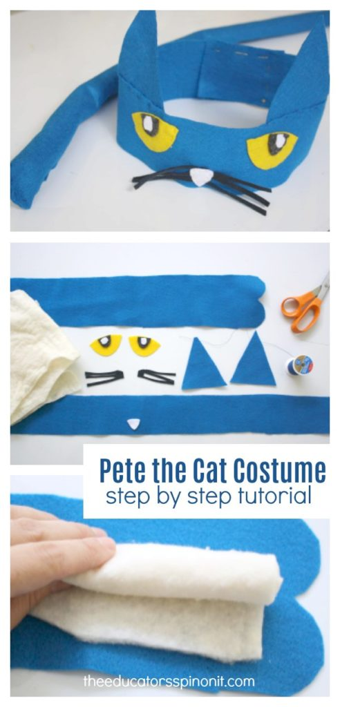Blue DIY Pete the Cat Costume Headband and Tail