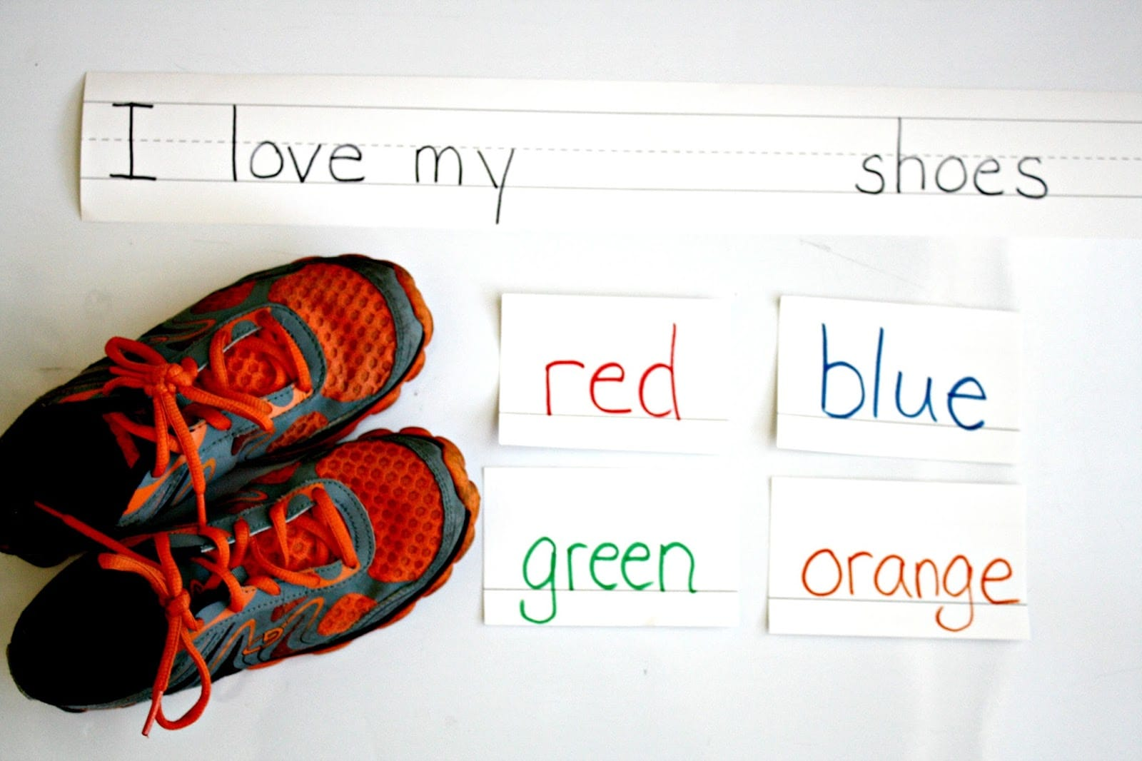 I love my ___ shoes, literacy activity for Pete the Cat