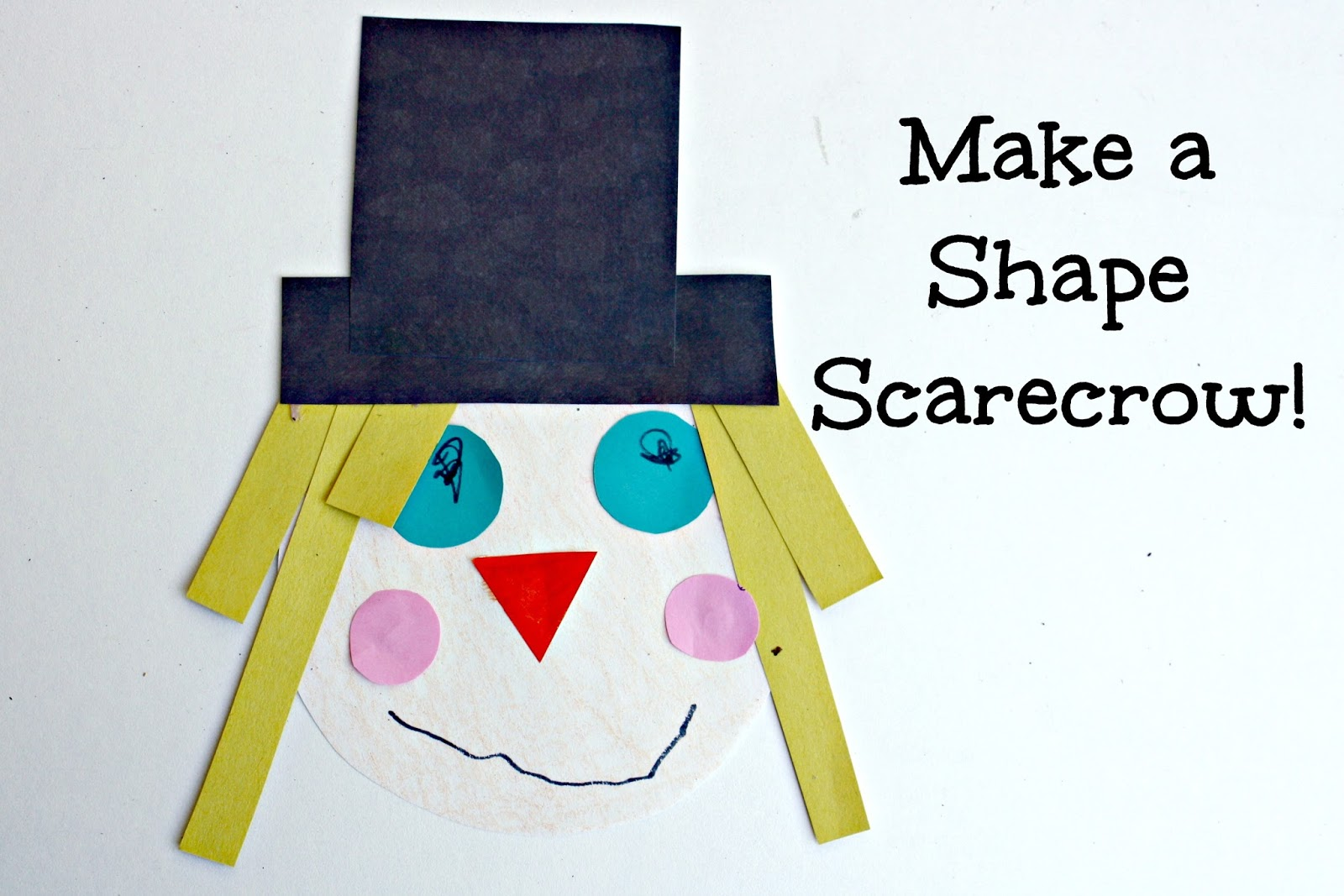 Make a shape scarecrow