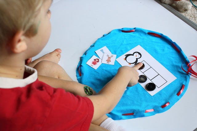 Christmas Activities for Kids: Phonemic Awareness Busy Bag