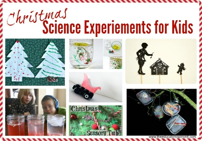 Science Experiments for Christmas to Make and Do with your Kids this holiday season.