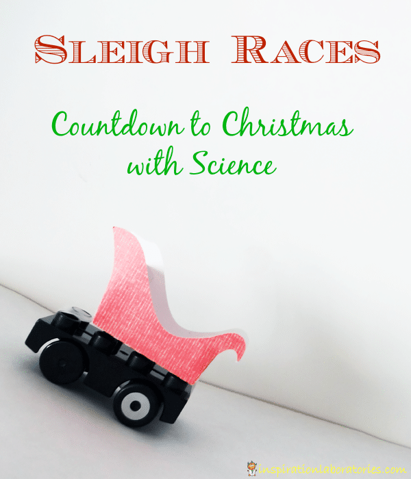 Sleigh Races, a science experiment with ramps