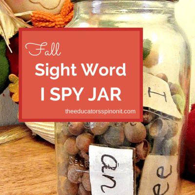 EASY Fall Sight Word Games with Acorns
