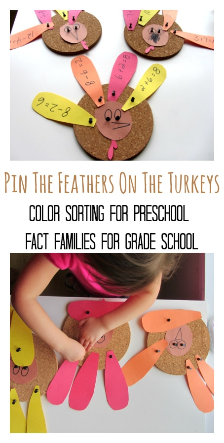 Turkey fact family craft