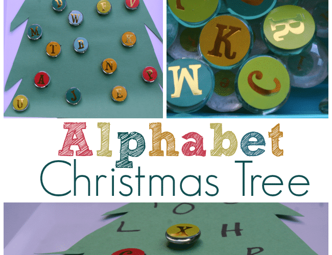 Alphabet Christmas Tree Activity