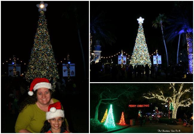Explore SeaWorld's Christmas Celebration with a family a 4.  A must-do experience for the holiday season!