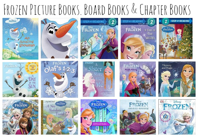 Frozen picture books, Frozen board books, and Frozen chapter books for inspiring literacy and learning with Frozen fans!