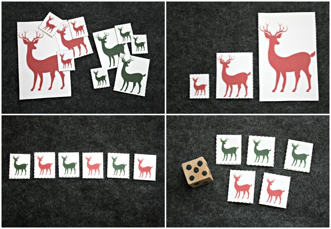FUN Reindeer Math Games for Preschool Play and Learning!