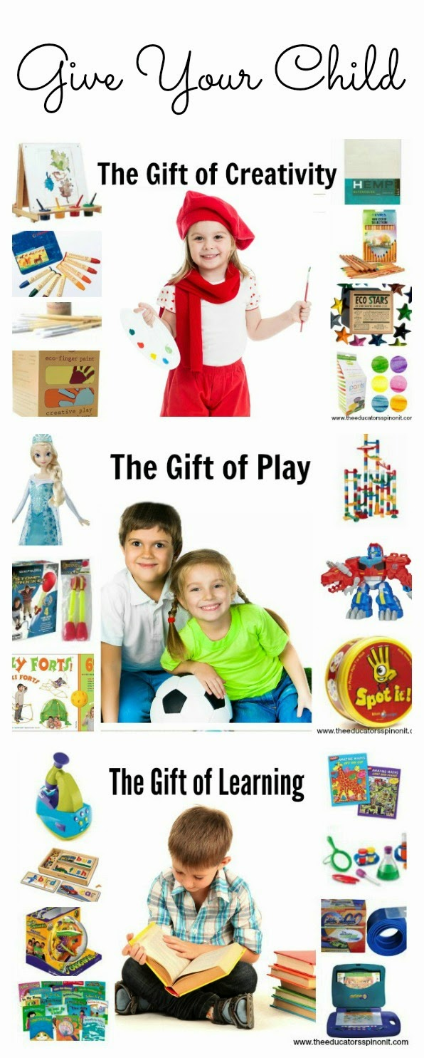 Gift Ideas for 5 year olds from Moms of 3 and Teachers at The Educators' Spin On It