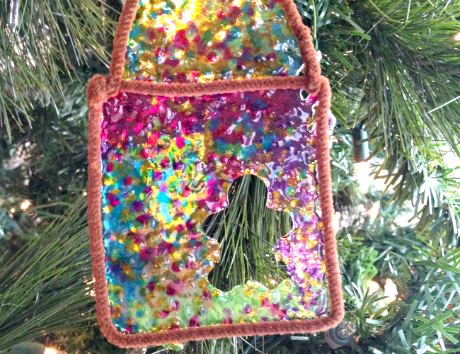 DIY Stained Glass Gingerbread Man Ornament