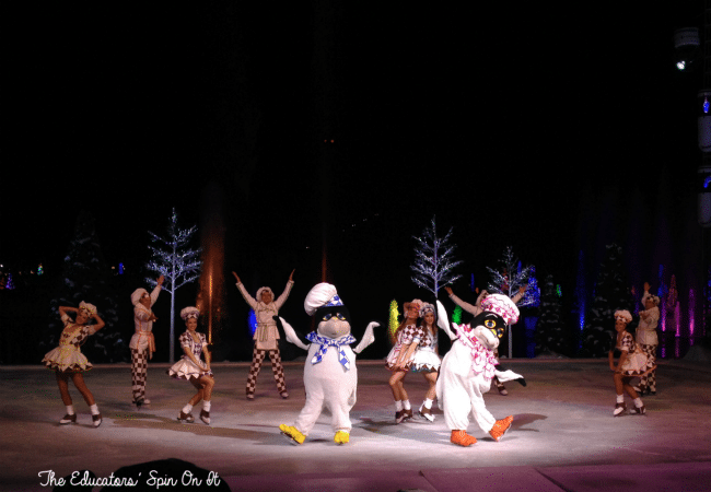 Ice Skating at SeaWorld's Christmas Celebration with a family a 4. A must-do experience for the holiday season!