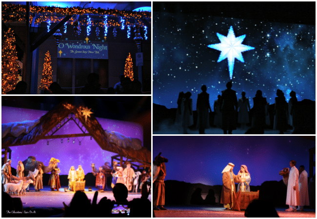 Living manger at SeaWorld's Christmas Celebration with a family a 4.  A must-do experience for the holiday season!
