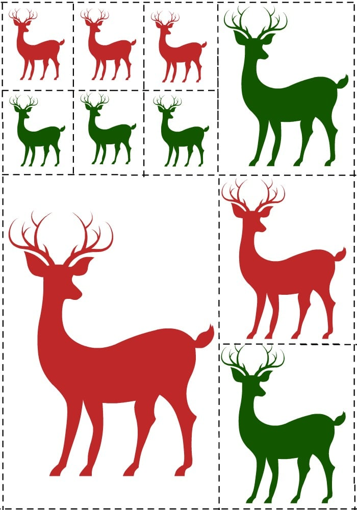 FREE Reindeer Card Printable