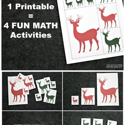 Reindeer Math Games for Preschool Learning